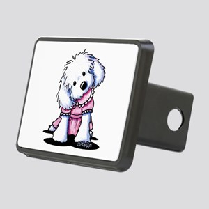 Maltese Girl In Pink Rectangular Hitch Cover