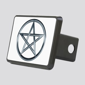 Silver Pentagram Rectangular Hitch Cover