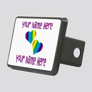 Rainbow Love Hitch Cover