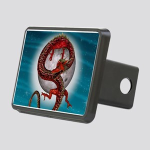 Fantasy Eastern Red Dragon Hitch Cover