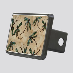 Dragonfly Flit Rustic Crea Rectangular Hitch Cover