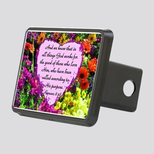 ROMANS 8:28 Rectangular Hitch Cover