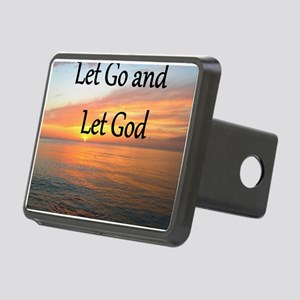 LET GO AND LET GOD Rectangular Hitch Cover