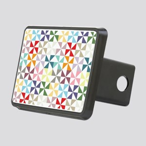 Colorful Geometric Pinwheel Hitch Cover