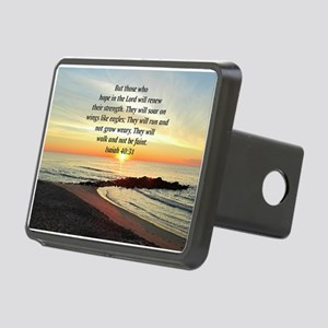 ISAIAH 40:31 Rectangular Hitch Cover