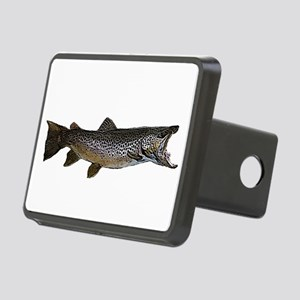 brown trout Rectangular Hitch Cover