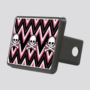 Gothic Pink Skull Chevron Pattern Hitch Cover