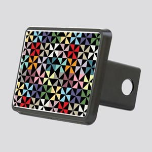 Colorful Pinwheels Black Hitch Cover