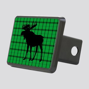 Moose: Rustic Green Plaid Rectangular Hitch Cover