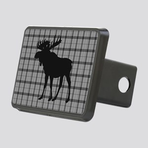 Moose: Grey Plaid Rectangular Hitch Cover