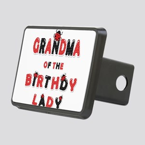 Grandma Of The Birthday La Rectangular Hitch Cover