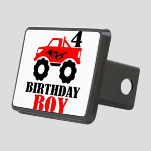 Truck Birthday Boy Fourth Rectangular Hitch Cover