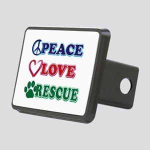 Peace Love Rescue Hitch Cover