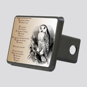 Owl with poem Rectangular Hitch Cover