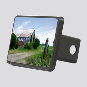 Rural Deserted Barn Rectangular Hitch Cover