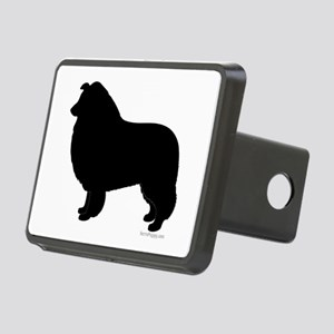 Rough Collie Silhouette Hitch Cover