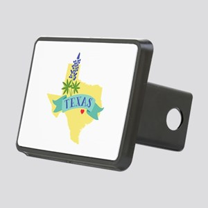 Texas State Outline Bluebonnet Flower Hitch Cover