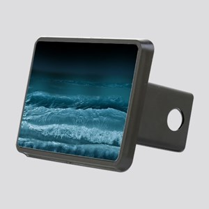 Night  Ocean Waves Rectangular Hitch Cover