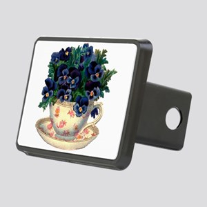 Teacup Flowers Hitch Cover