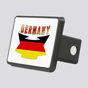 Germany flag Ribbon Rectangular Hitch Cover