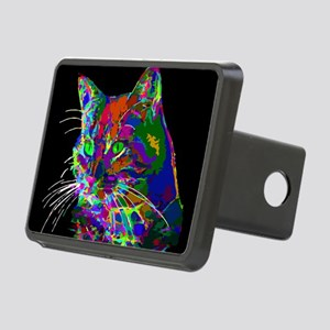 Pop Art Abstract Cat Hitch Cover