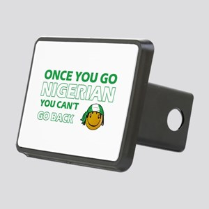 Nigerian smiley designs Rectangular Hitch Cover