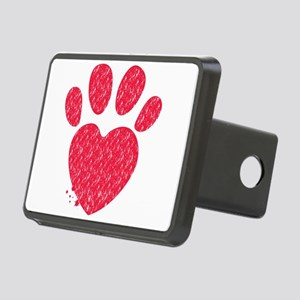 Paw and heart shape Rectangular Hitch Cover