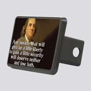 Ben Franklin Quote Rectangular Hitch Cover