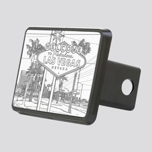 LasVegas_10x10_WelcomeSign Rectangular Hitch Cover