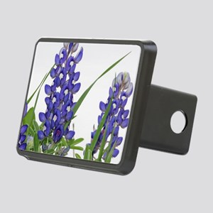 Texas bluebonnet circle ch Rectangular Hitch Cover