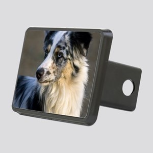 (15) aussie looking left Rectangular Hitch Cover