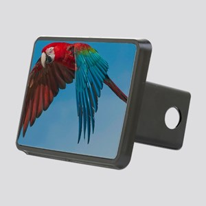 Green-winged Macaw Steve D Rectangular Hitch Cover