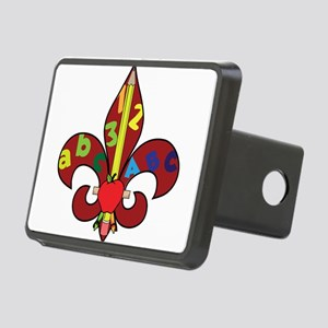 Fleur De Teacher Rectangular Hitch Cover