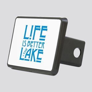 Life Better at Lake Rectangular Hitch Cover