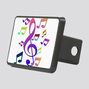 Key sol and music note Rectangular Hitch Cover