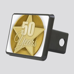 Gold 50 Years Rectangular Hitch Cover