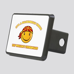 Macedonian Smiley Designs Rectangular Hitch Cover