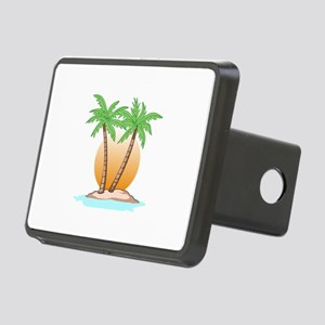 PALM TREES AND SUN Hitch Cover