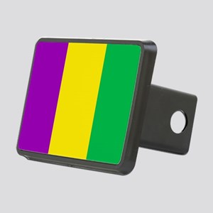 Purple Green Gold Vertical Rectangular Hitch Cover