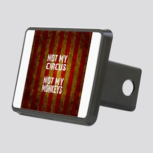 NOT MY CIRCUS NOT MY MONKE Rectangular Hitch Cover