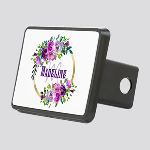 Purple and Gold Monogram Hitch Cover