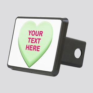 Green Custom Candy Heart Rectangular Hitch Cover