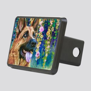 German Shepherd Painting Hitch Cover