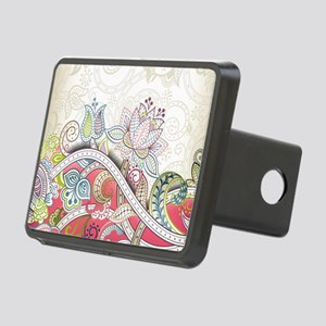 Abstract Floral Hitch Cover