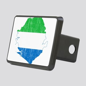 Sierra Leone Flag And Map Rectangular Hitch Cover