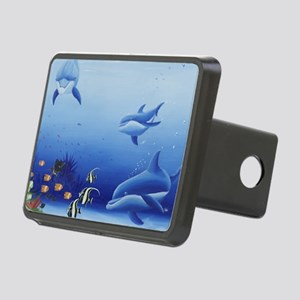 Three Dolphin Friends Rectangular Hitch Cover