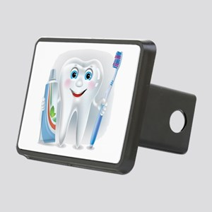 Cartoon cute tooth with to Rectangular Hitch Cover