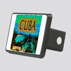 cuba beach art illustration Rectangular Hitch Cove