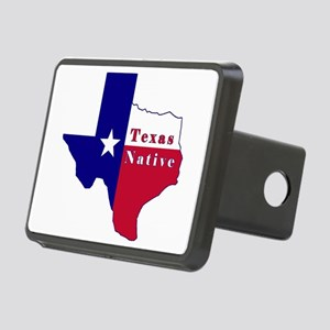 Texas Native Flag Map Rectangular Hitch Cover