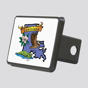 Louisiana Map Rectangular Hitch Cover